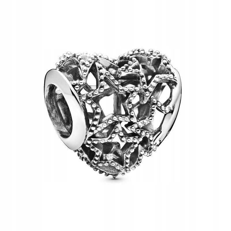 Charms Pandora - Serce i gwiazdki 798462C00