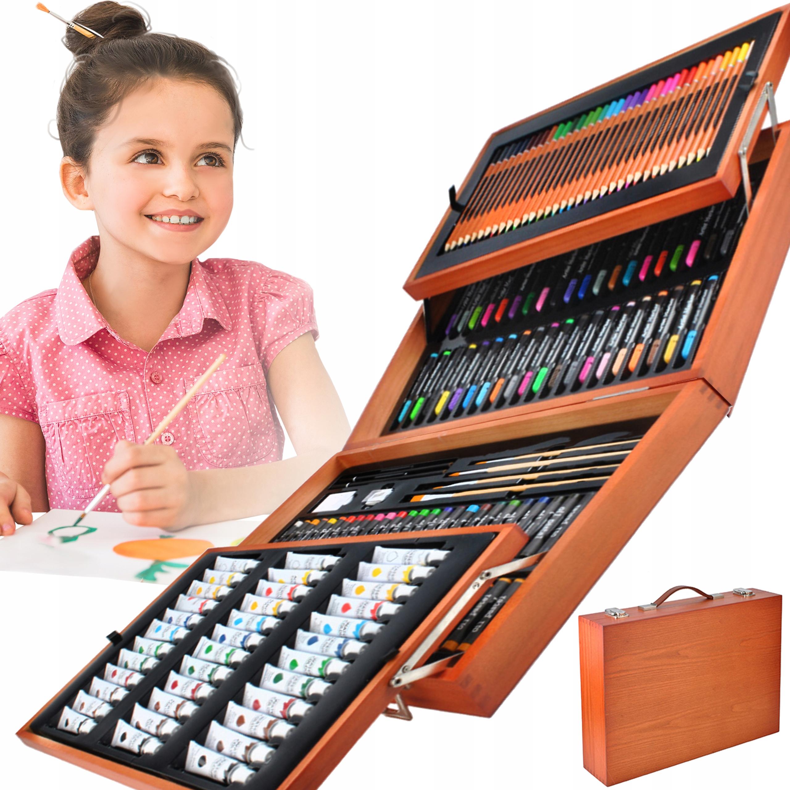 Zestaw Gigant do Malowania Rysowania Walizka Farby