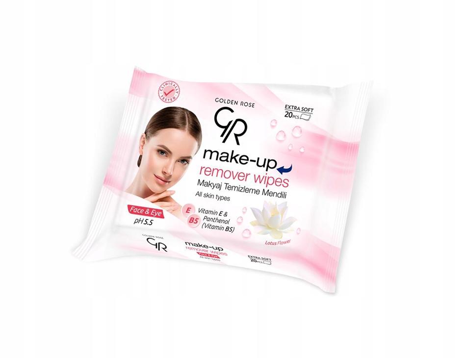 Golden Rose Салфетки Для Снятия макияжа с Лица 20шт