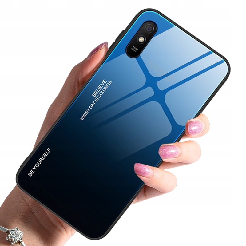 Etui do Xiaomi Redmi 9A Case Glass + Szkło 9H