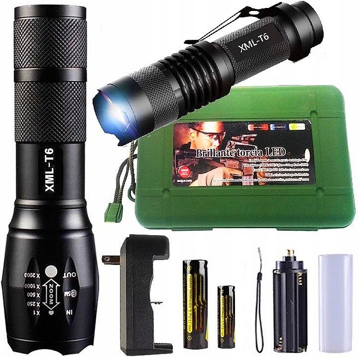 2x CREE XM-L T6 Тактический светодиодный фонарь T6 Q5 ZOOM 2PCS