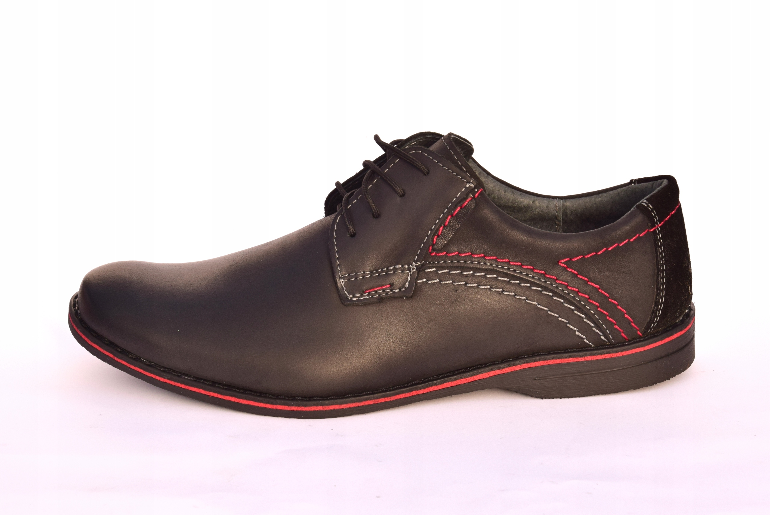 Buty męskie casual obuwie skórzane polskie 242 Rozmiar 40