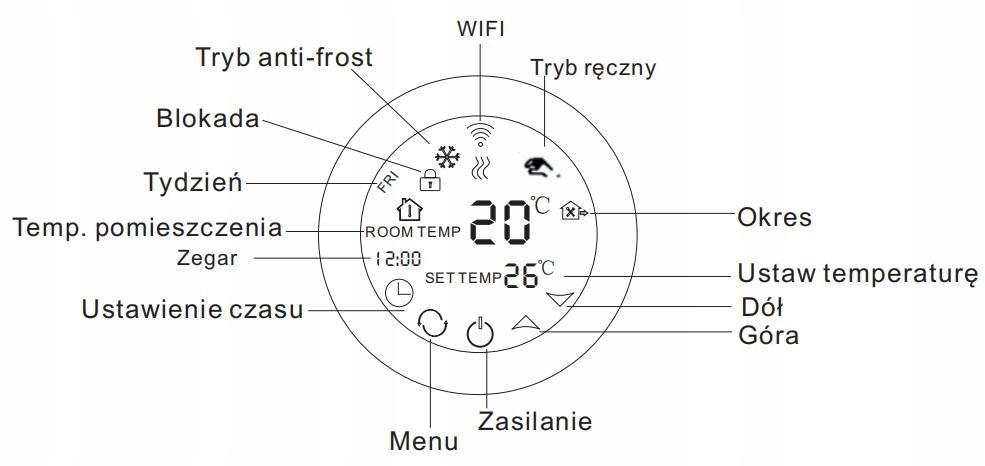 Комплект нагревательных ковриков WiFi 2,5 м2 200 Вт / м2 Площадь обогрева 2,5 м2