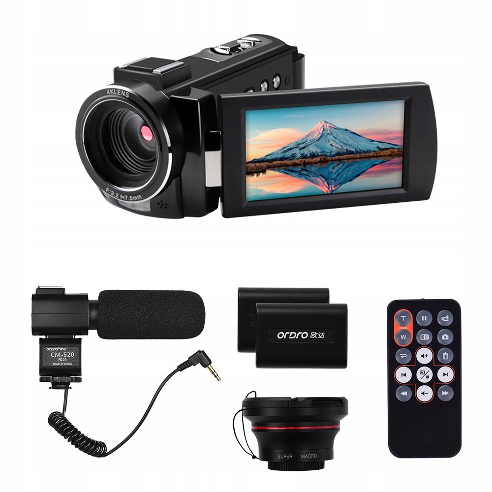 Ordro HDR-AE8 4K Cyfrowa kamera wideo DV Recorder