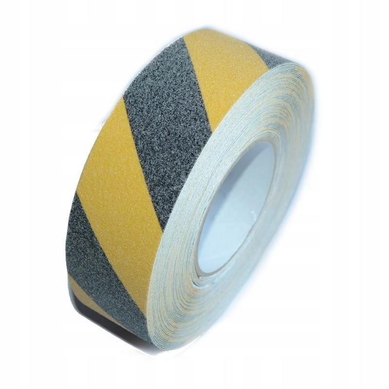 Лента противоскользящая черно-желтая 50мм 18м