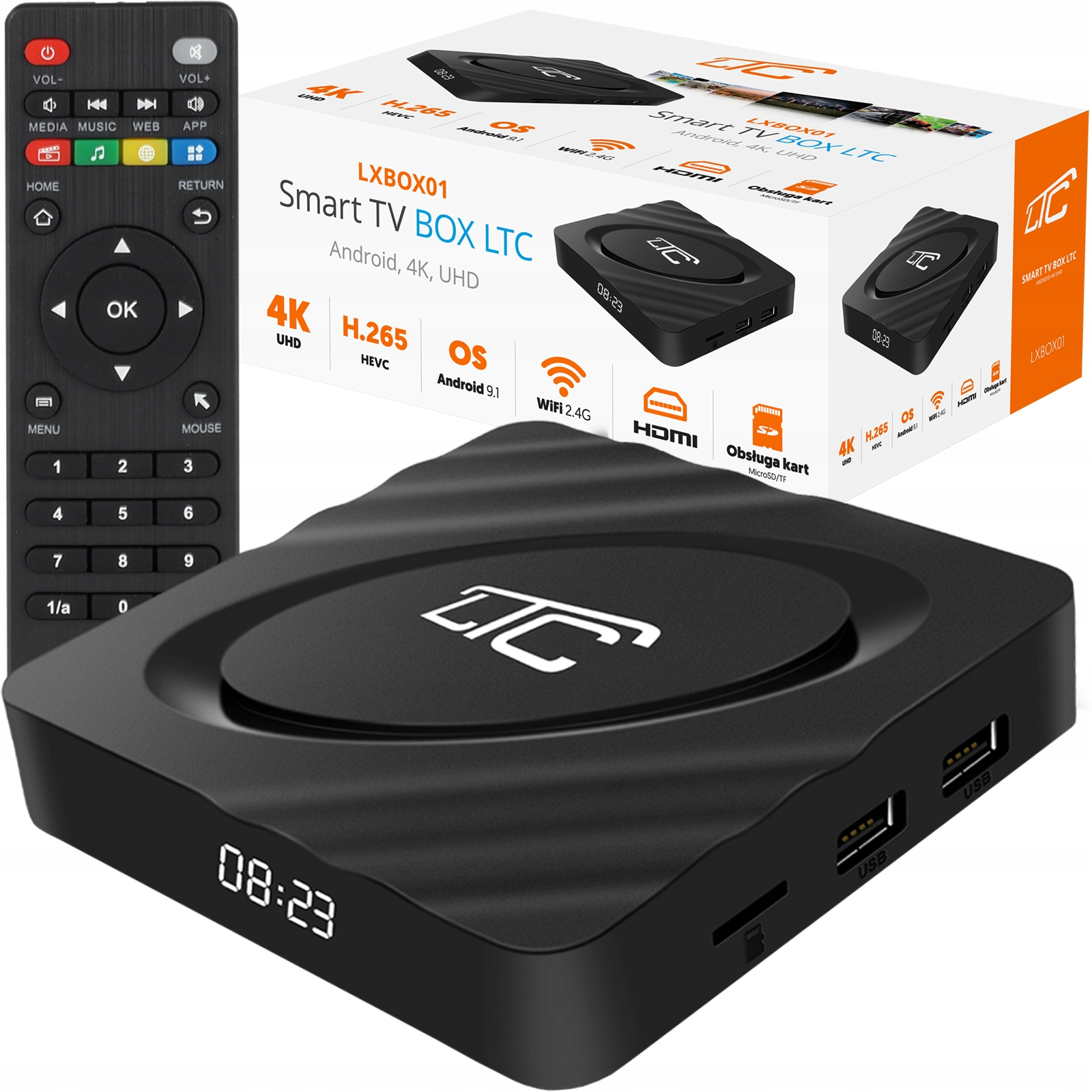 SMART BOX TV 4K ANDROID NETFLIX YOUTUBE GooglePlay