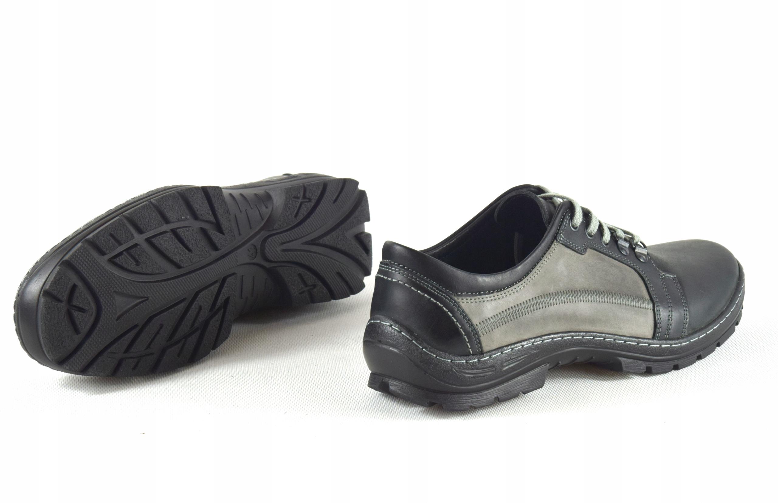 Półbuty trekkingowe męskie buty skórzane PL 192 Materiał zewnętrzny skóra naturalna