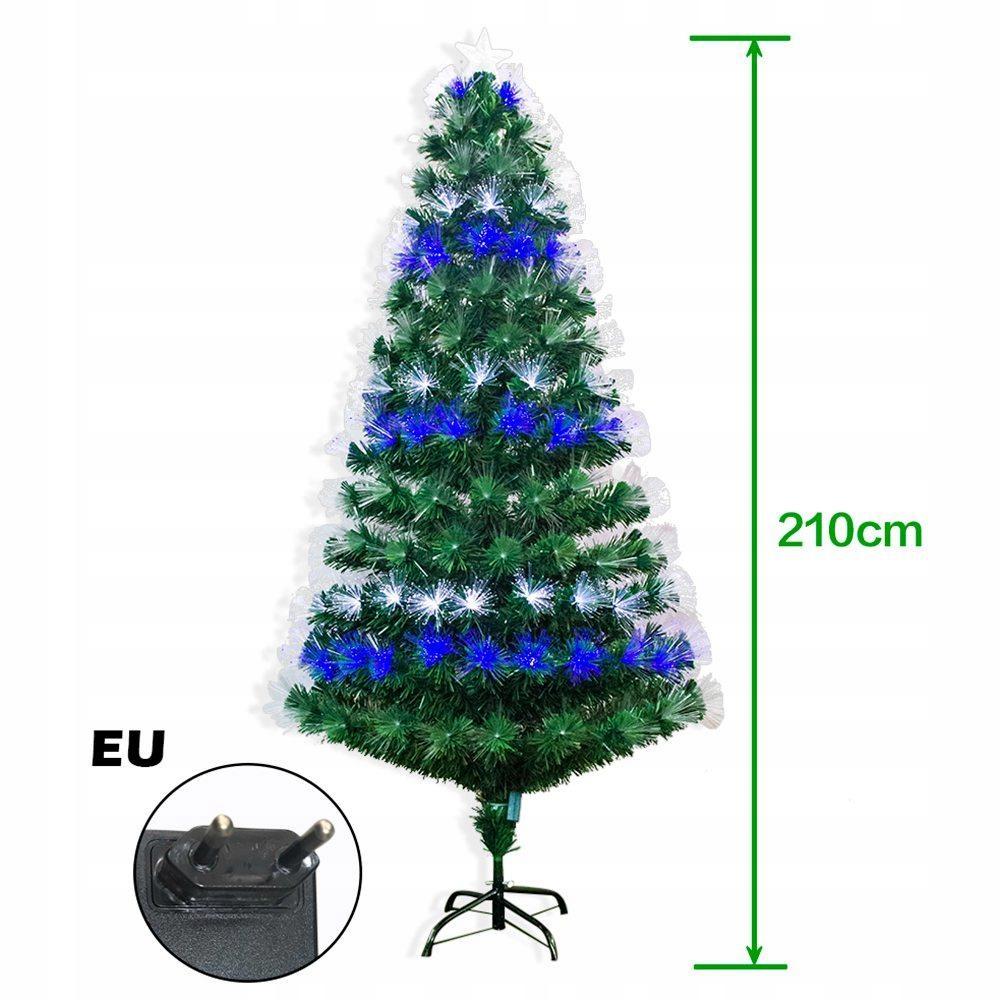 Prémiový osvetlený umelý vianočný stromček 210 cm