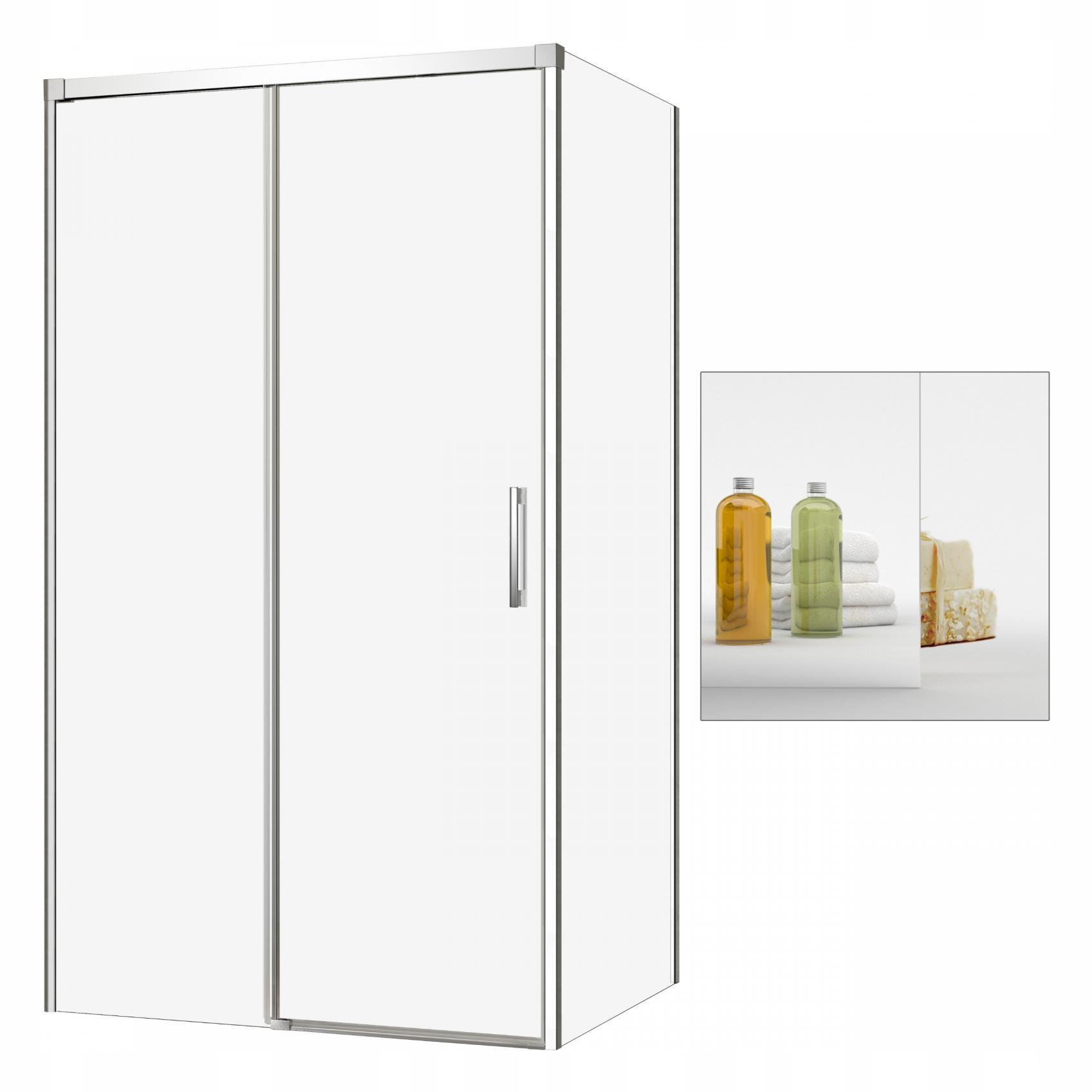 Sprcha 140x110 L Nápad KDJ sklo zrkadla