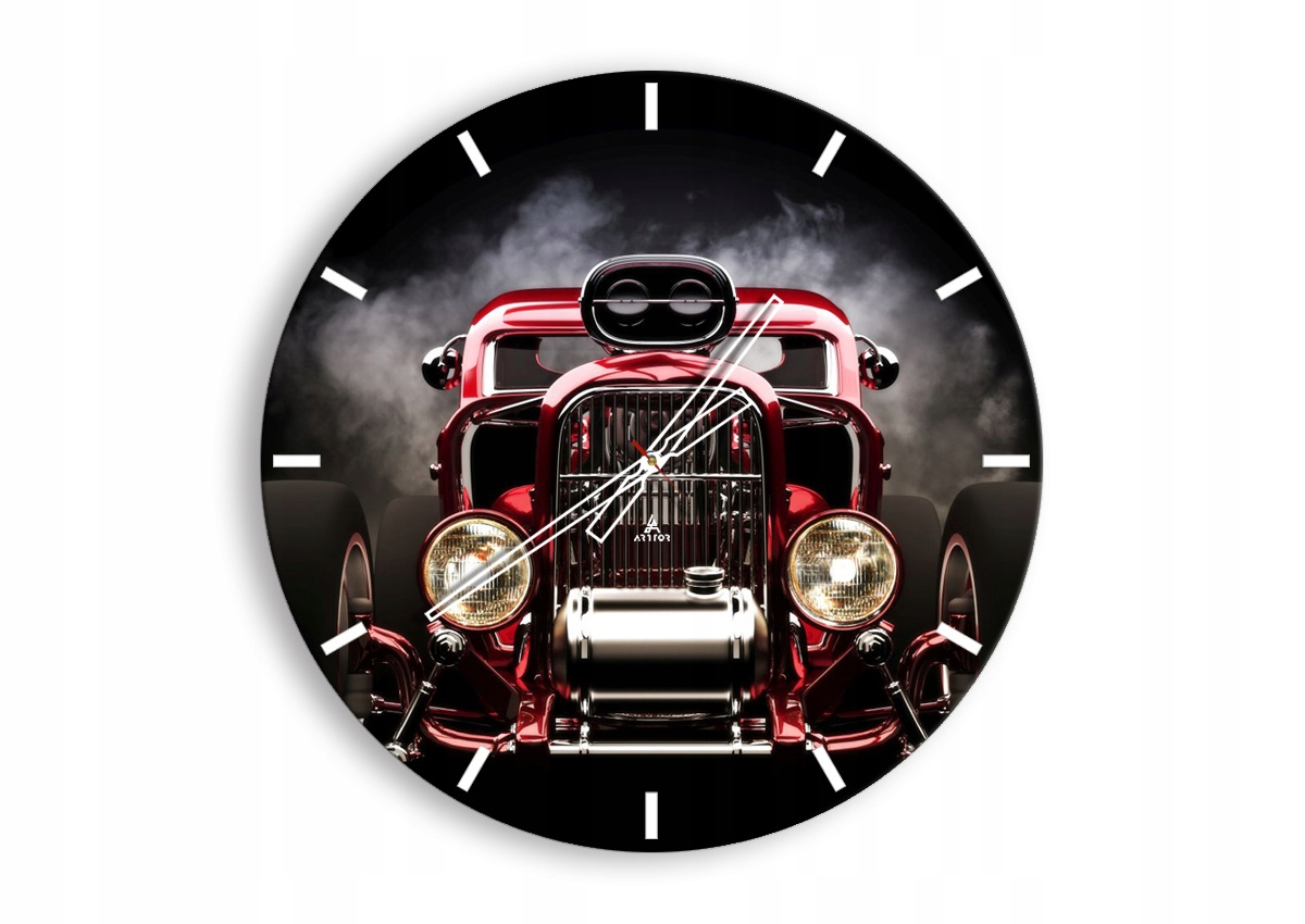 Retro automobilové nástenné hodiny C3AR60x60-2422