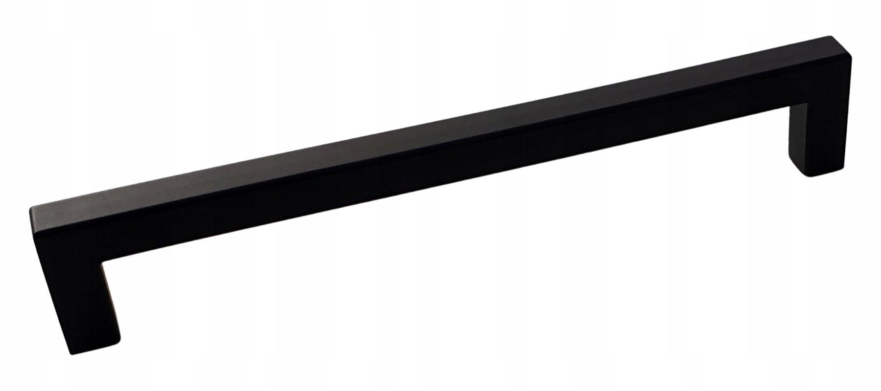 Ручка мебельная Square 160мм чёрная матовая + винты