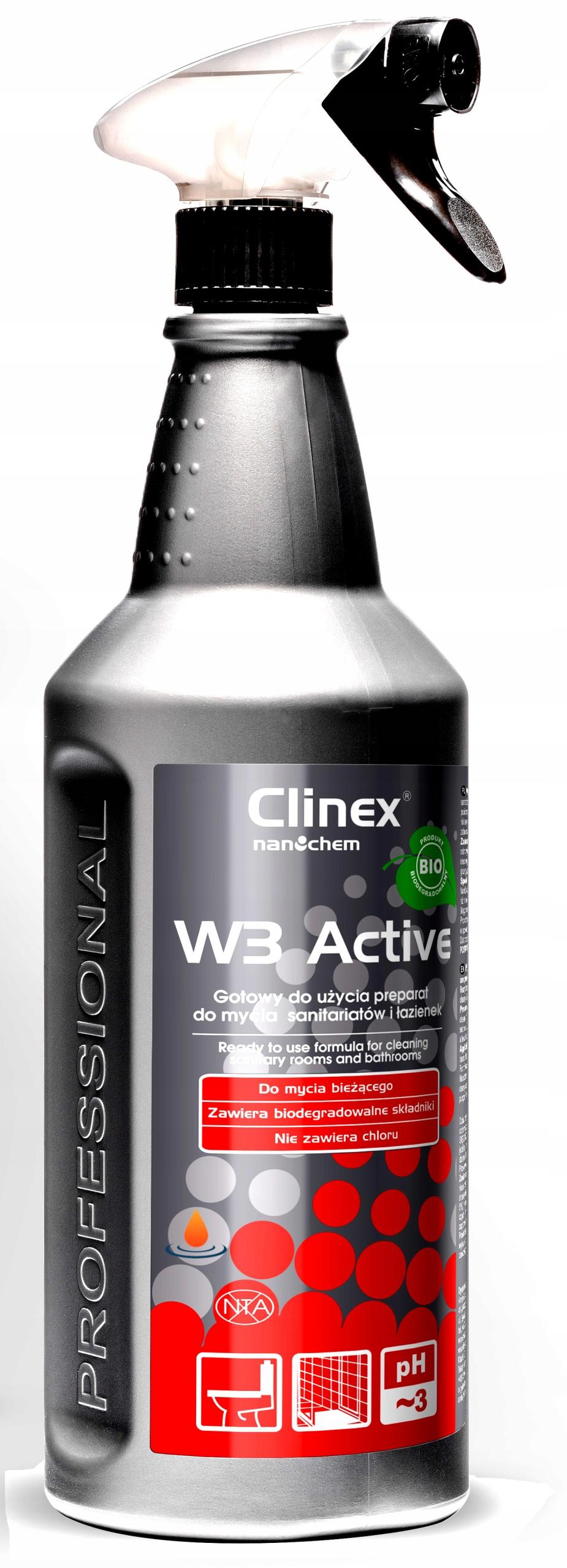CLINEX W3 ACTIVE BIO, Płyn do mycia łazienki 1L