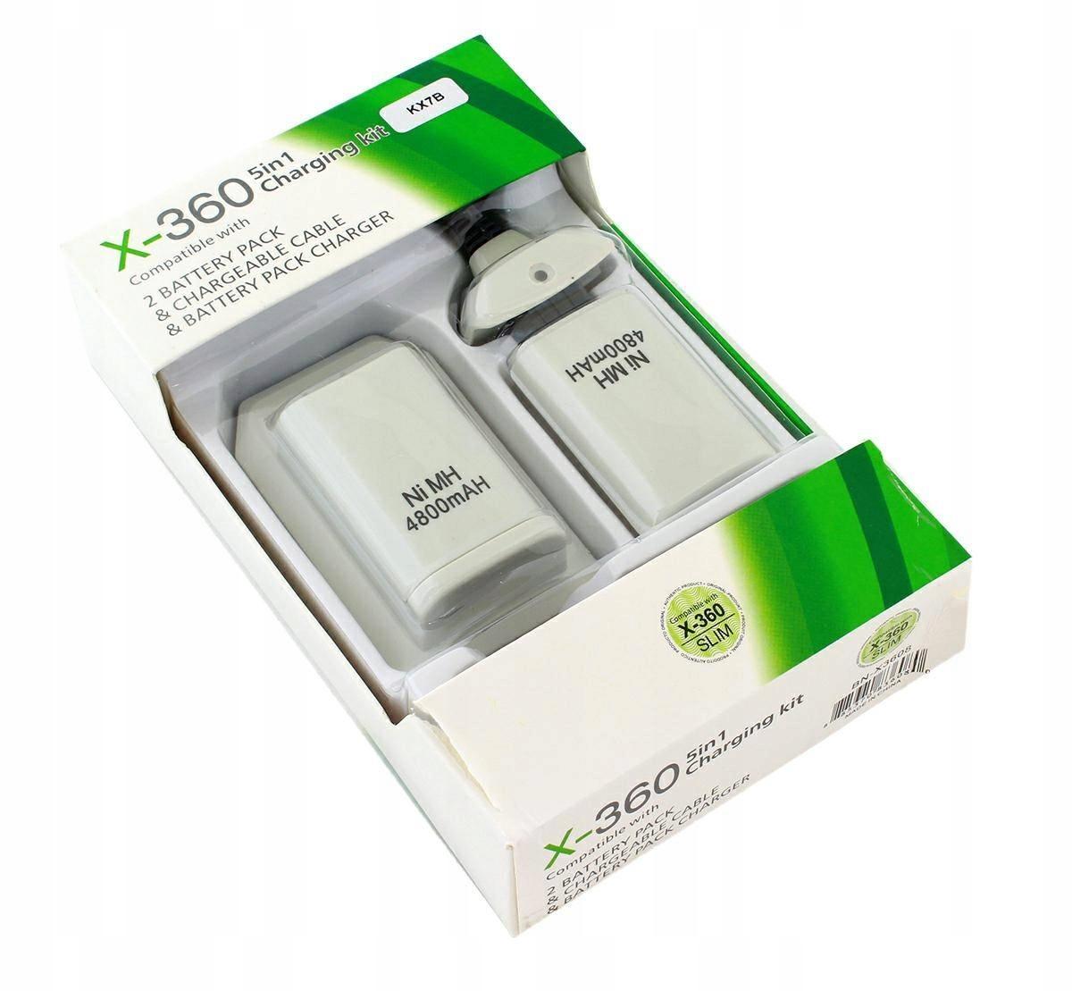 ŁADOWARKA XBOX 360 2x BATERIA DO PADA + KABEL USB