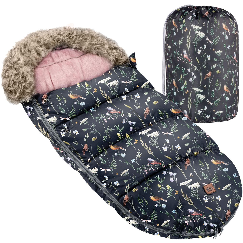 Спальный мешок-тележка TiniMini с мехом