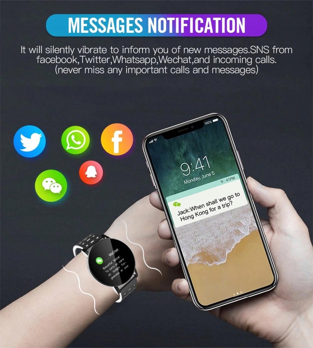 Zegarek Smartwatch Bluetooth 16w1 kroki puls cykl Złącza microUSB czytnik kart pamięci nanoSIM