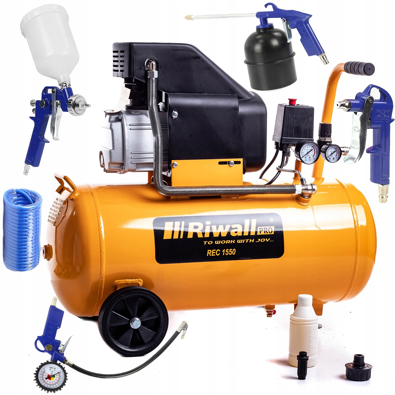 Olejový kompresor RIWLL 50L 3.3KW Kompresor 4,5 km