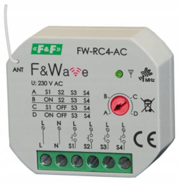 F&Wave - nadajnik 4-kanałowy FW-RC4-AC