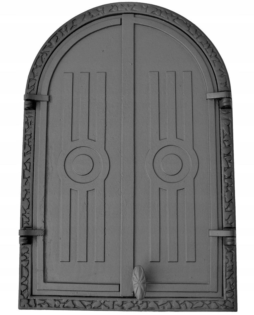 liatinové dvere do udiarne, polkruhové 58,5 x 39,5