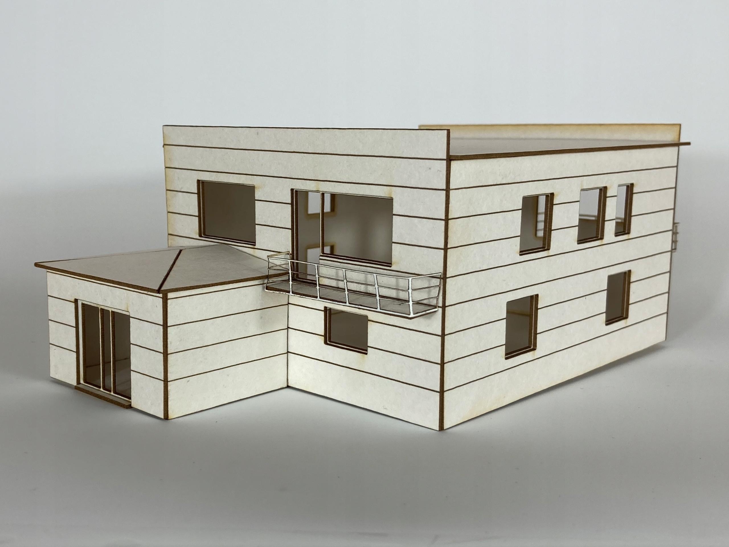 Dom jednorodzinny + garaż H0 1:87
