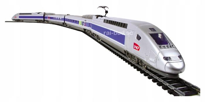 KOLEJKA HO Z ZASILACZEM POCIĄG TGV POS SNCF