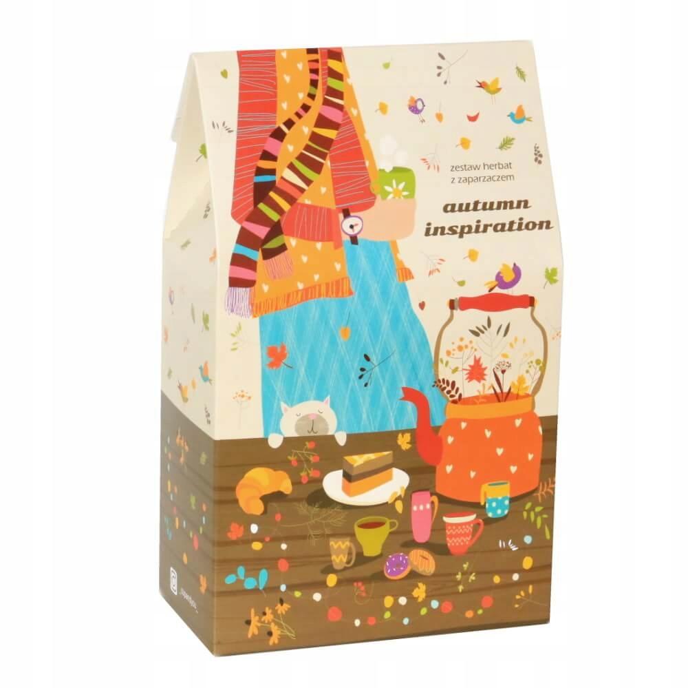 Подарочный набор осенних чаев + аксессуары