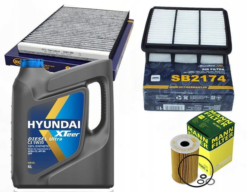 комплект фильтры hyundai i30fd 16crdi 0811 масло