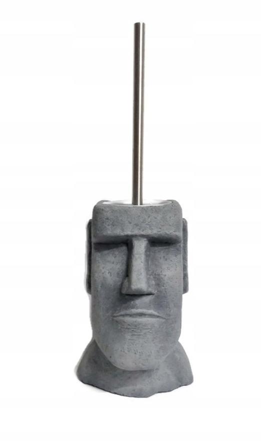 Покрытие из камня моаи. Ершик для унитаза. Серый.