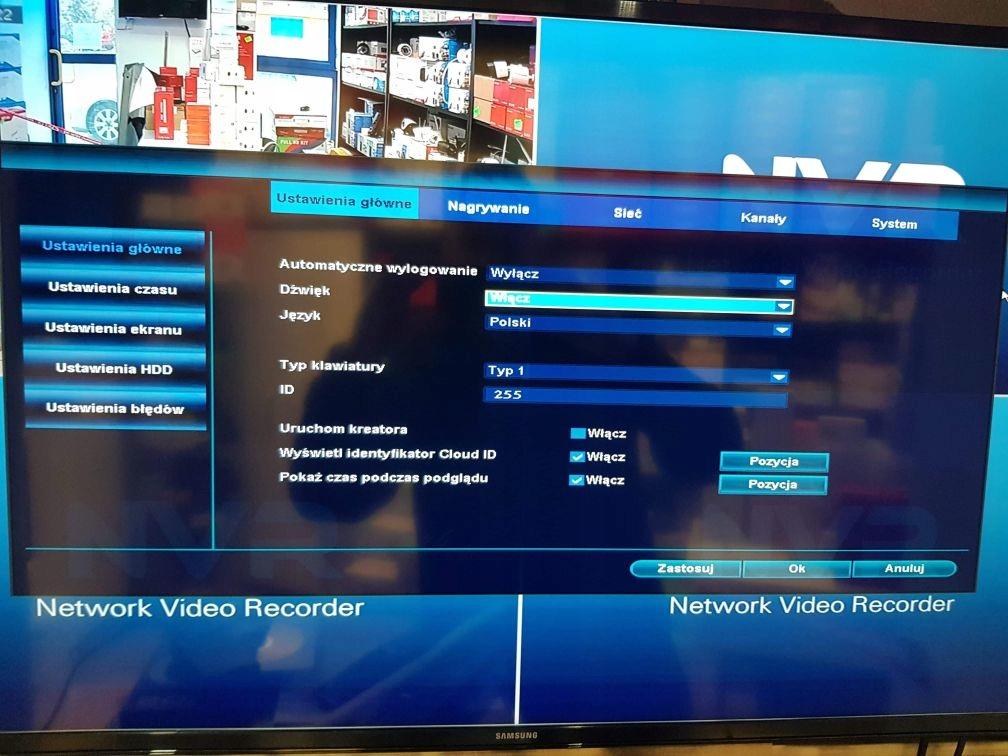 Zestaw 4 kamer zewnętrznych online podczerwień noc Maksymalna pojemność dysków 6 TB