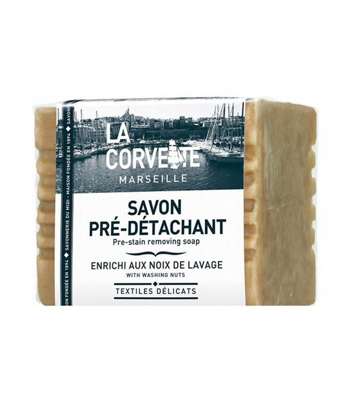 Мыло удаляет пятна от моющих орехов LaCorvette.