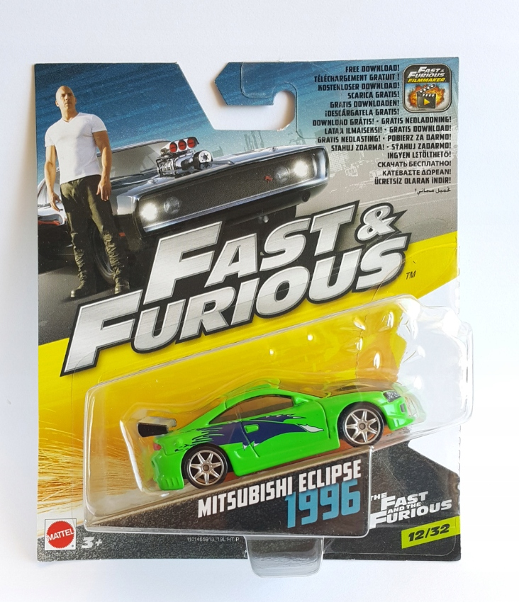 MITSUBISHI ECLIPSE FAST & FURIOUS HOT WHEELS