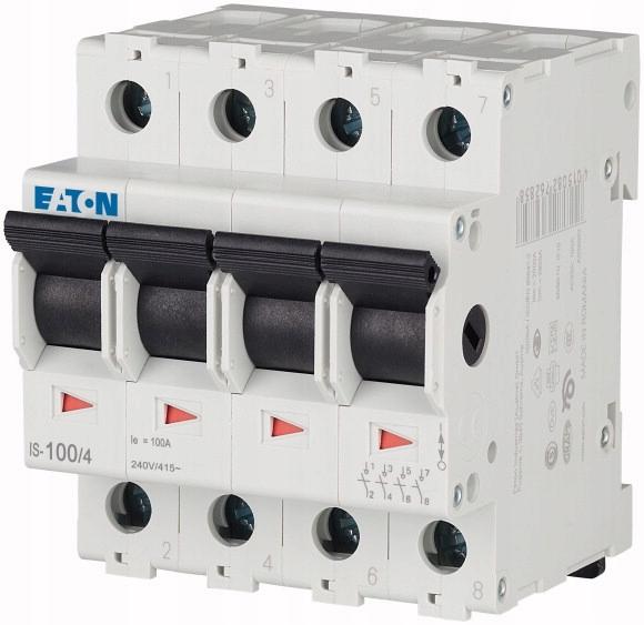 Выключатель-разъединитель модульный ИС-100/4 0-1 100А 4П