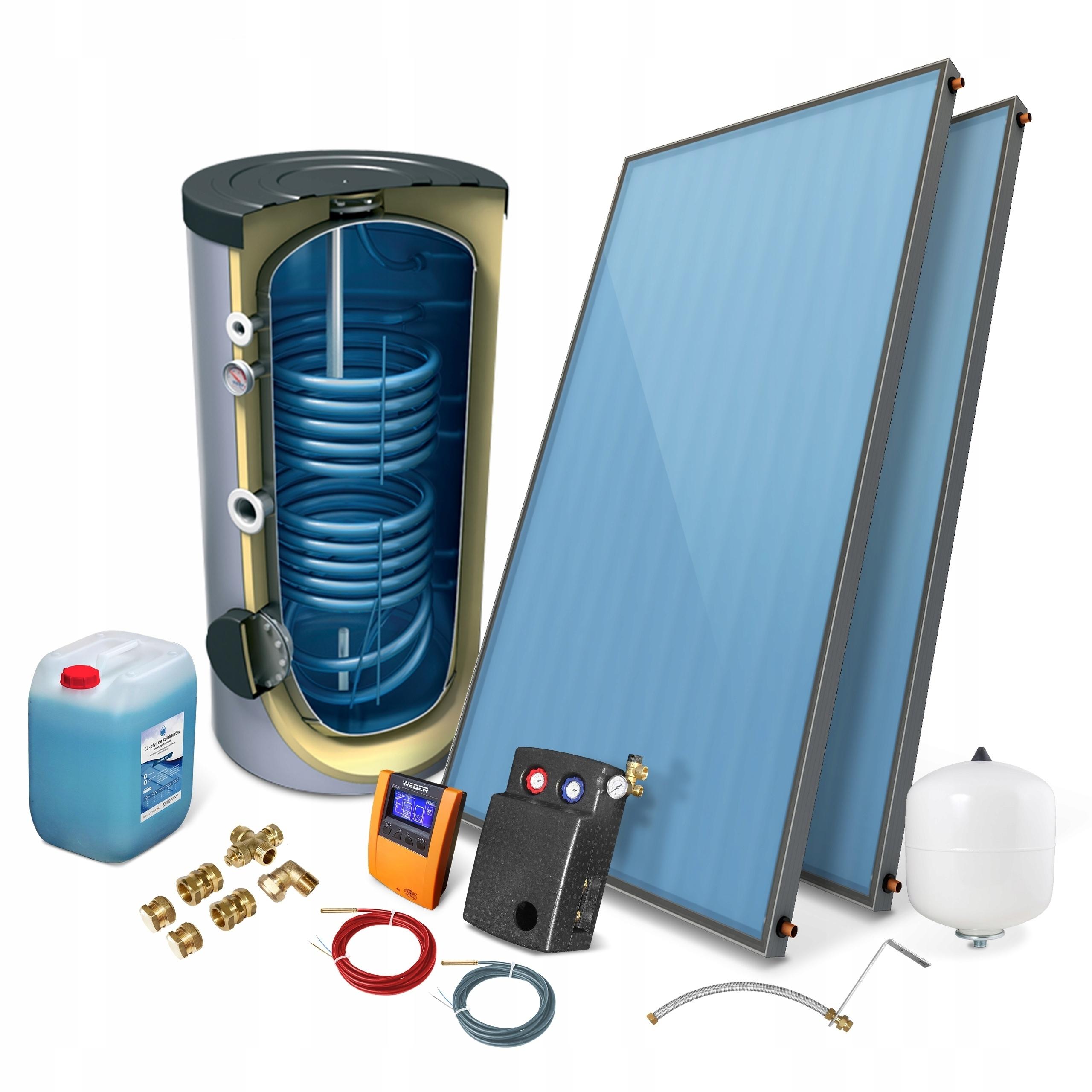 Zestaw solarny kolektor słoneczny 2,0 ECO 2/200