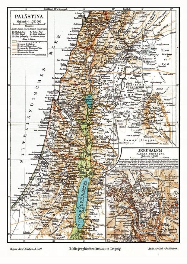 Mapa Palestíny