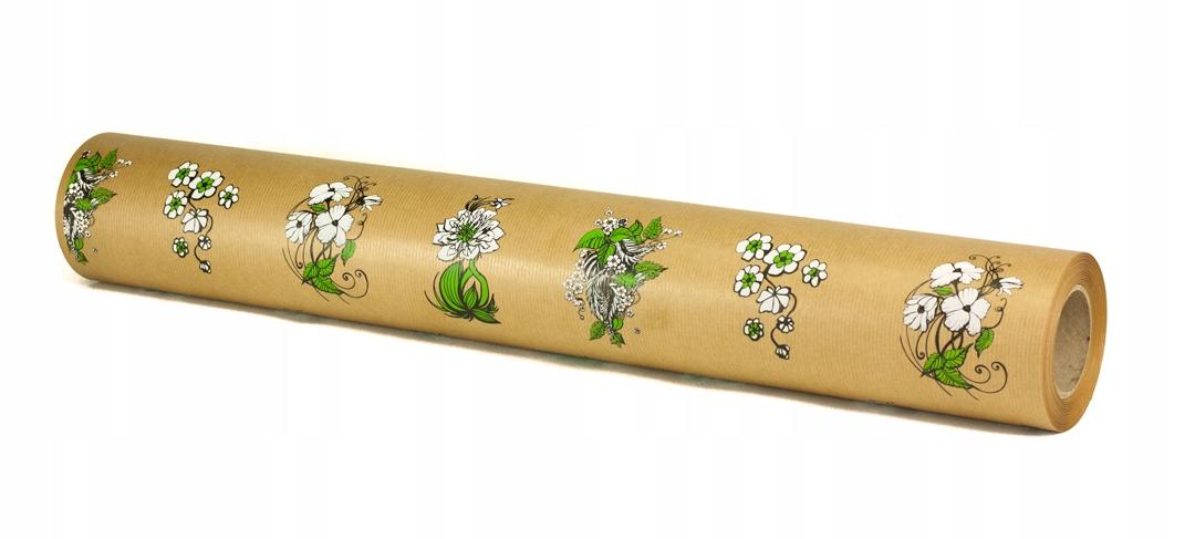 Упаковочная бумага KRAFT FLOWERS 60см 50м