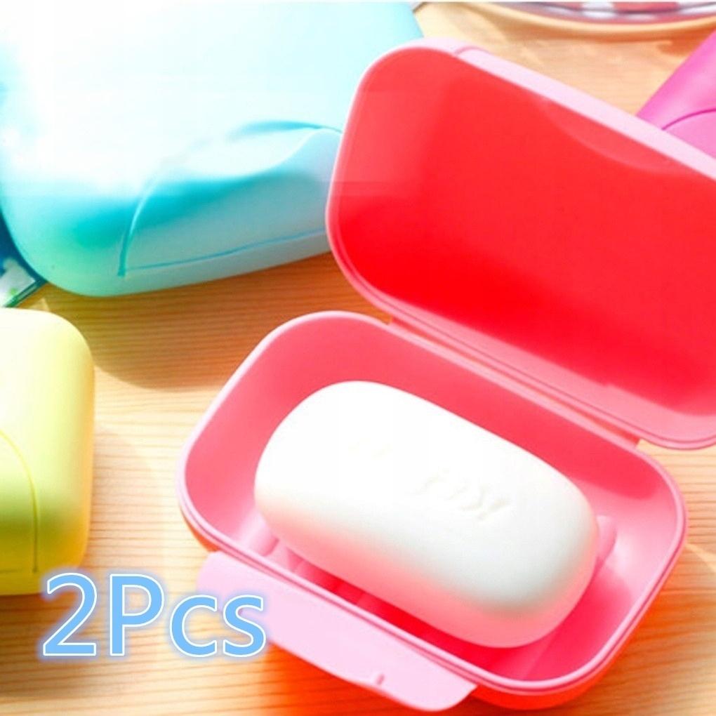 Zelené 2ks. Značkový dizajnový cestovný box na mydlo
