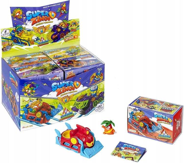 SÉRIA SUPER ZINGS 5 BOX 8 x SKYRACER + OBRÁZOK