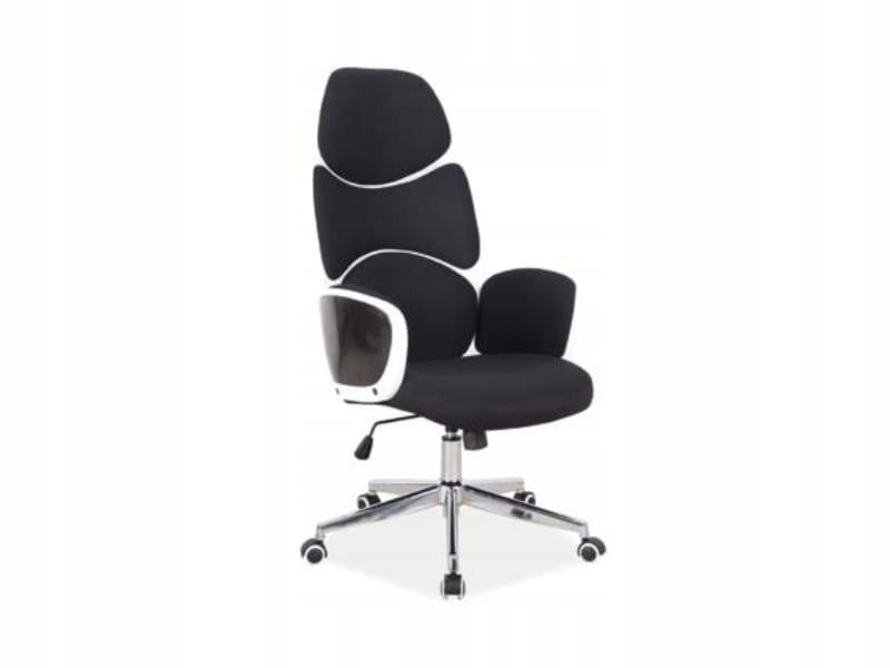 Otočná stolička moderného Q-888 čiernej textílie