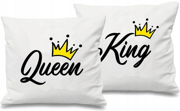 Poduszki Dla Par Prezent Na Walentynki King Queen 7818975425 Allegro Pl