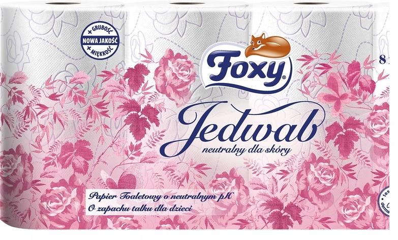FOXY PAPIER TOALETOWY JEDWAB 8SZT 3 WARSTWY