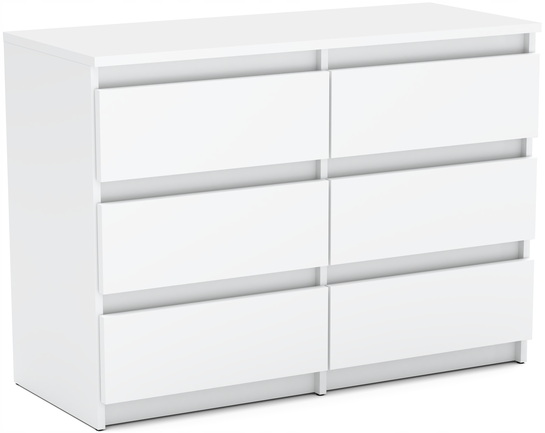 NOWOCZESNA komoda szafka 6 szuflad Biały Mat