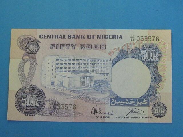 Nigeria Banknot 50 Kobo 1974 stan UNC P-14g