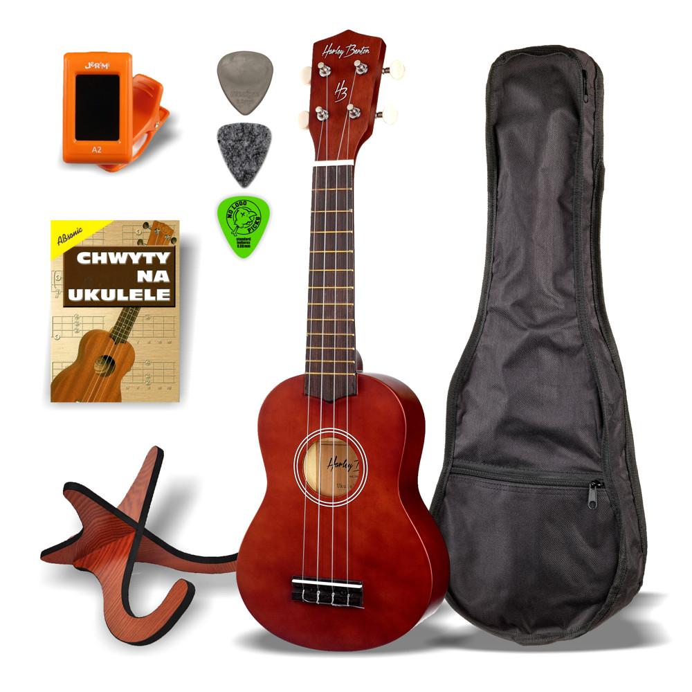 Harley Benton drevený sopránový ukulele SET