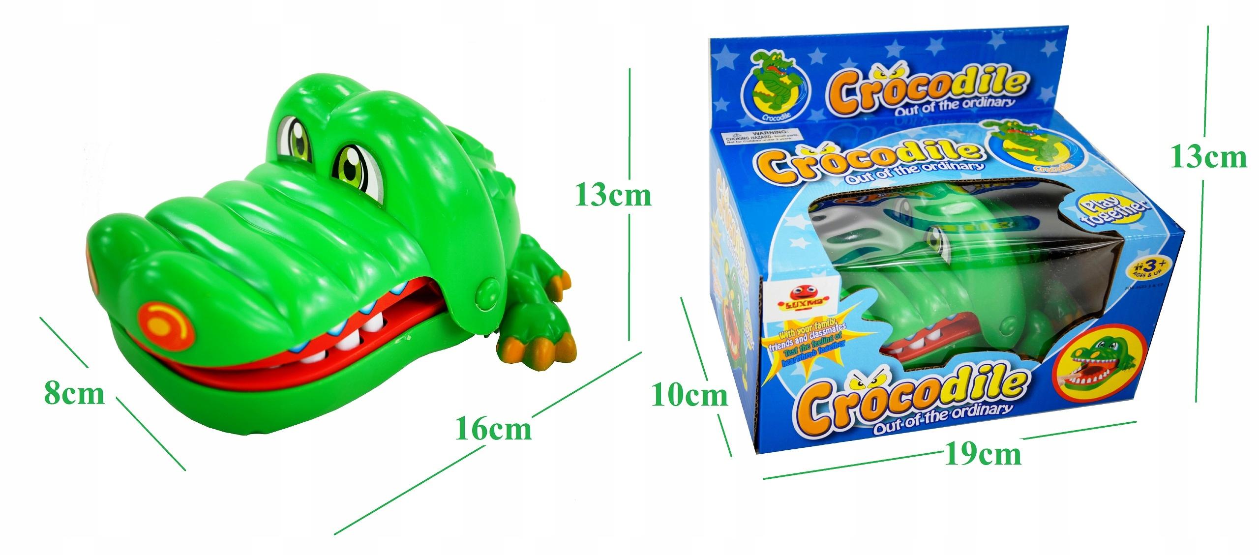 KROKODYL U DENTYSTY gra zręcznościowa dzieci 802 Głębokość produktu 8 cm