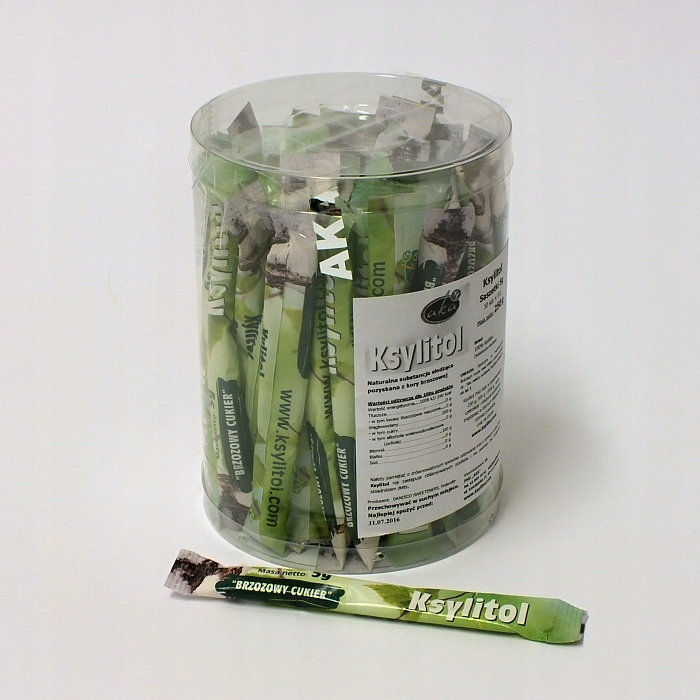 Ксилитол в пакетиках, березовый сахар 50 шт. х 5 г AKA