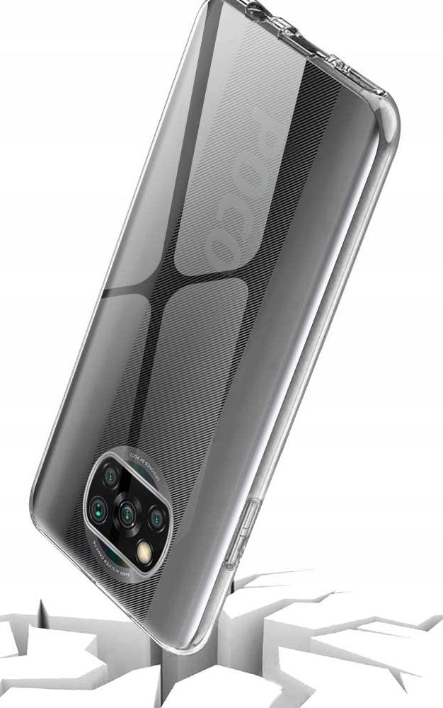 Etui do Xiaomi POCO X3 NFC Clear Case + Szkło 9H Dedykowany model Xiaomi POCO X3 NFC