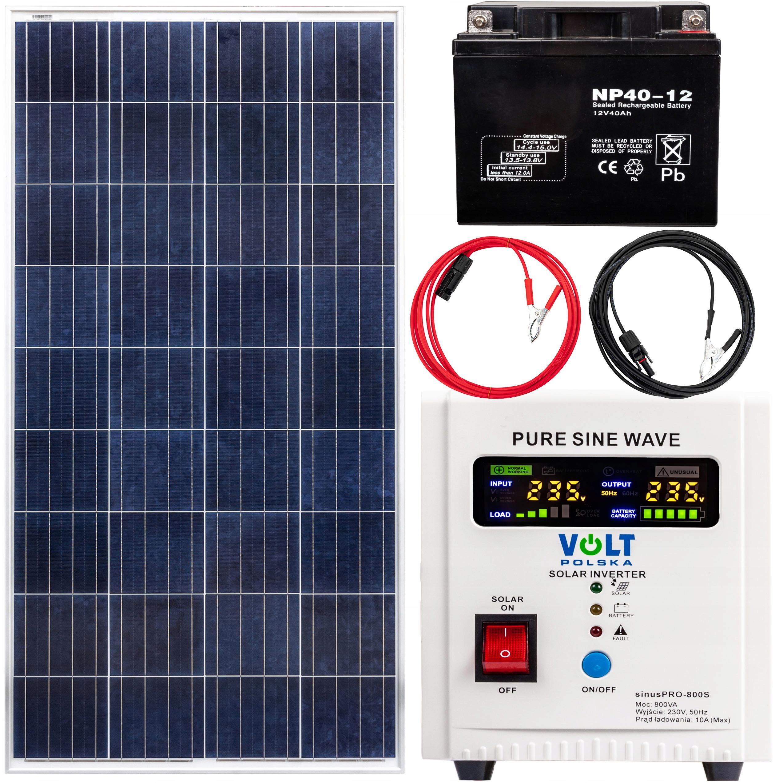 Nastavte solárnu batériu Inverter Solárna panel 40