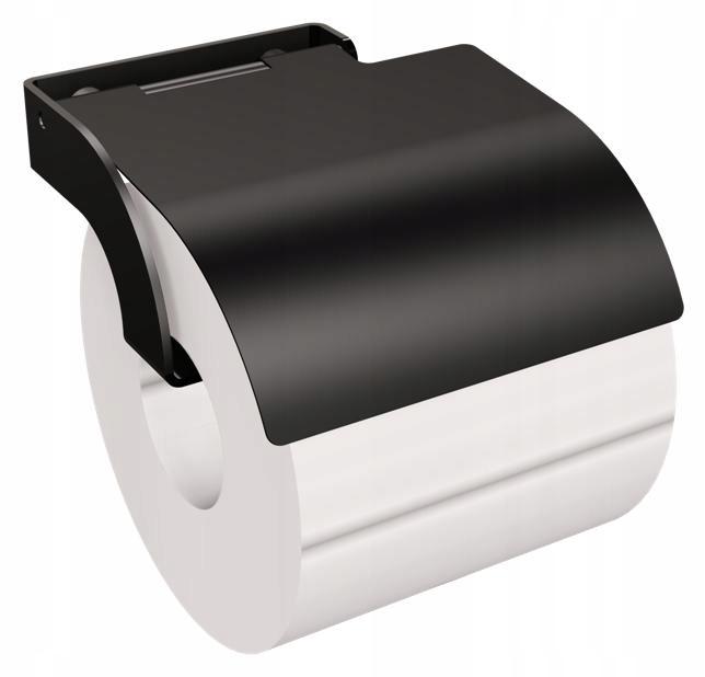 Nástenný držiak na toaletný papier čierny