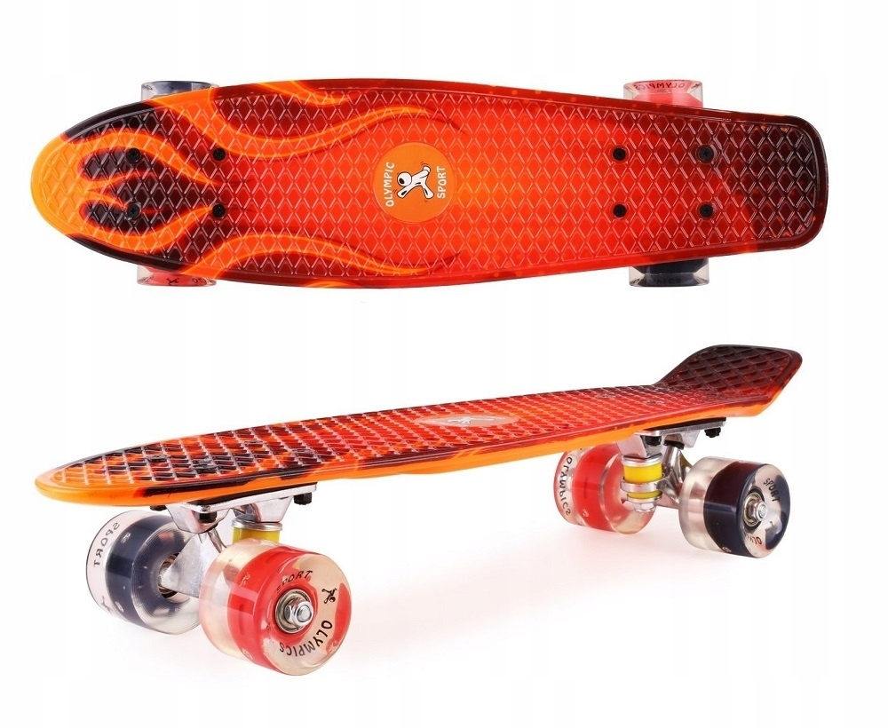 Skateboard Graffiti Skateboard žiariace LED kolesá