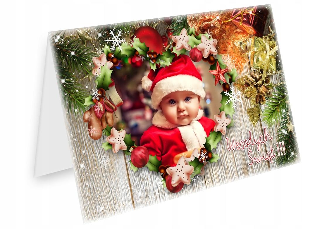FOTO KARTKI ŚWIĄTECZNE ze zdjęciem BOŻE NARODZENIE