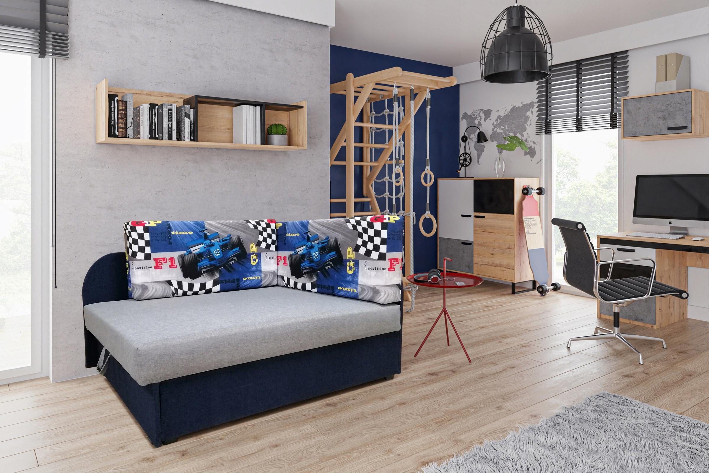 Sofa rozkładana,narożnik jednoosobowy dla dziecka